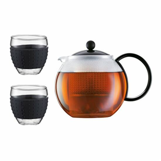 Bodum Assam teáskanna 1,0l + 2db 0,35l pohár szilicon gyűrűvel