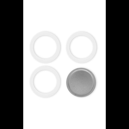 Bialetti Tömítés 3db + 1db szűrő Moka Express 3/4 cup