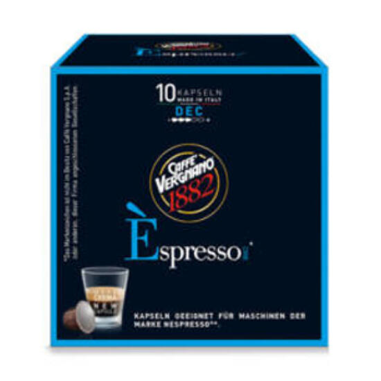 Caffé Vergnano Decaffeinato Nespresso kompatibilis kávékapszula, 10 db