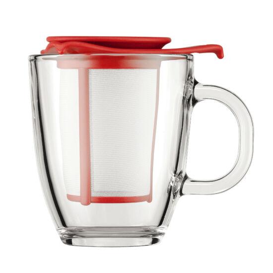 Bodum Yo-Yo set teás bögre szűrővel 0,35l vörös