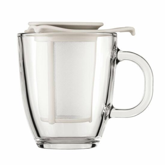 Bodum YO-YO teás bögre szűrővel 350ml, Fehér